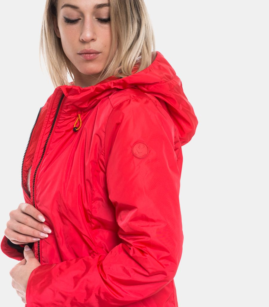 SAVE THE DUCK WOMEN'S JACKET RED