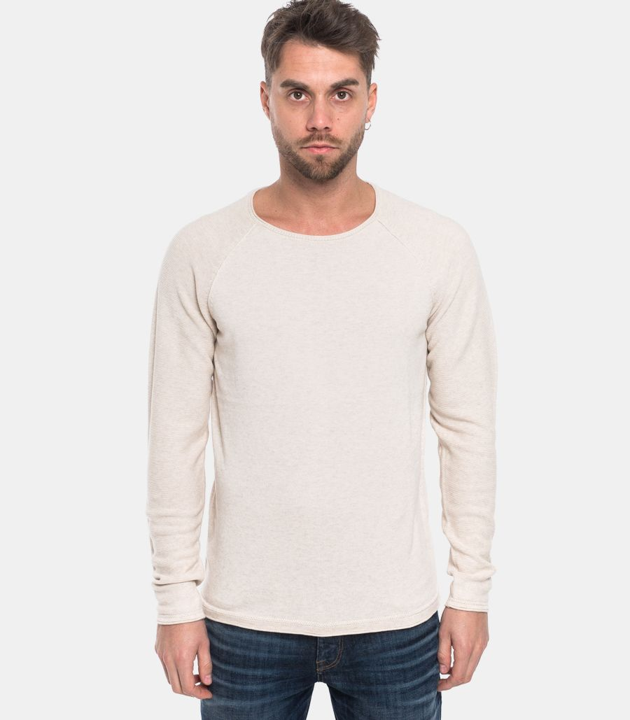 Men's worked sweater white. 16068515