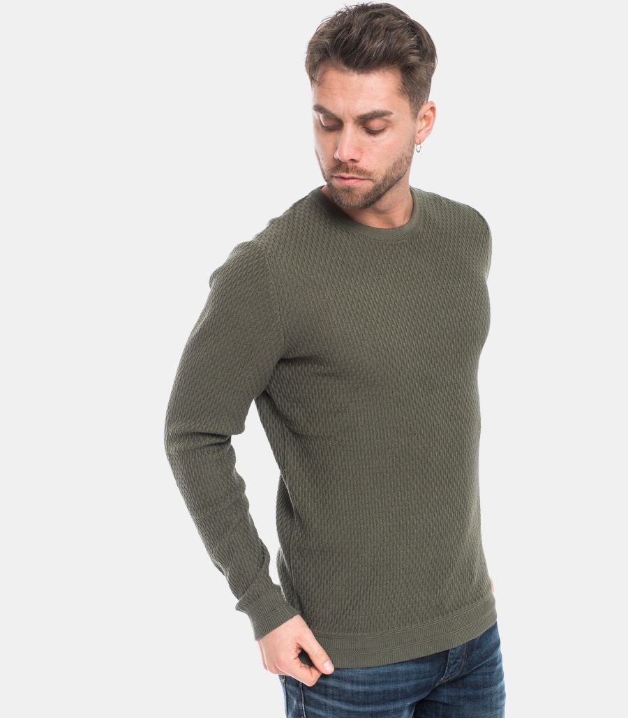 Men's worked sweater green. 16068515