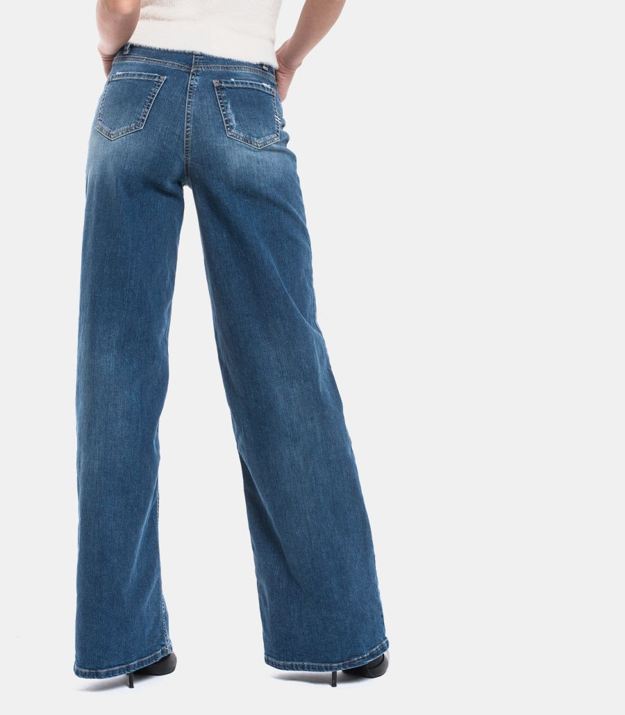 VICOLO WOMEN'S JEANS THROUSERS FLARED