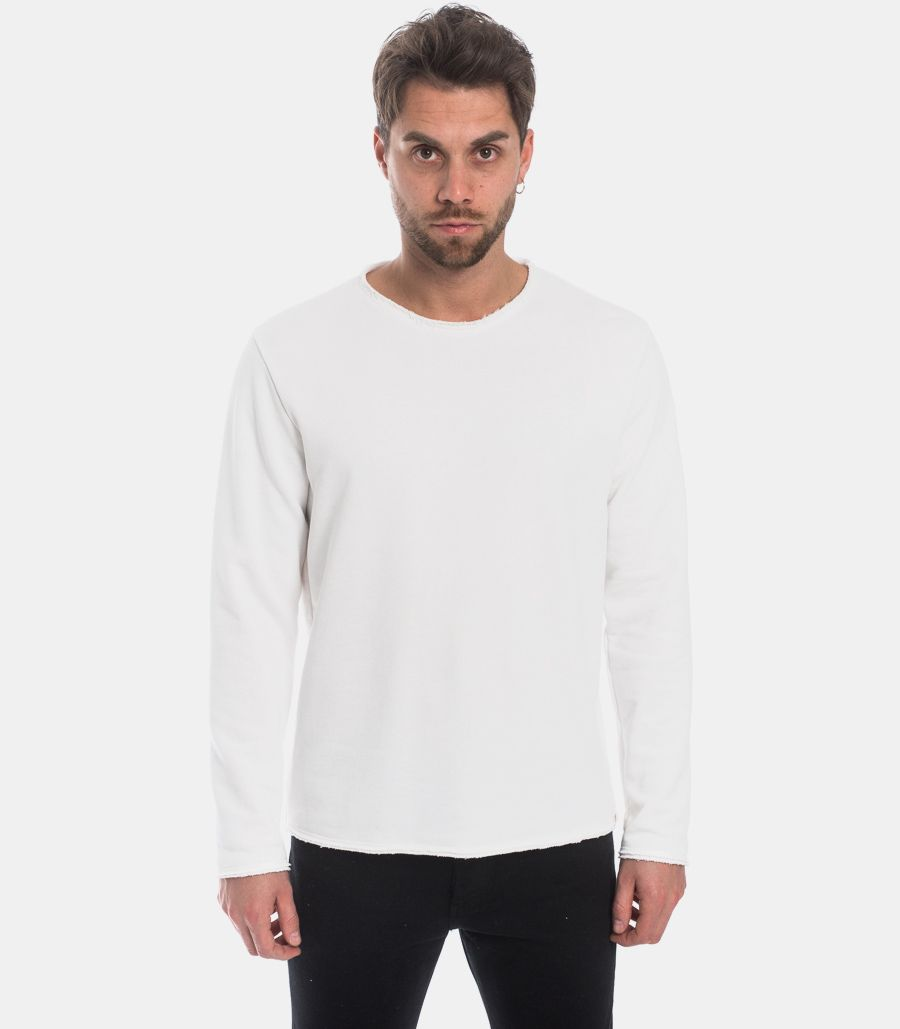 MEN'S RAU CUT SWEATSHIRT WHITE