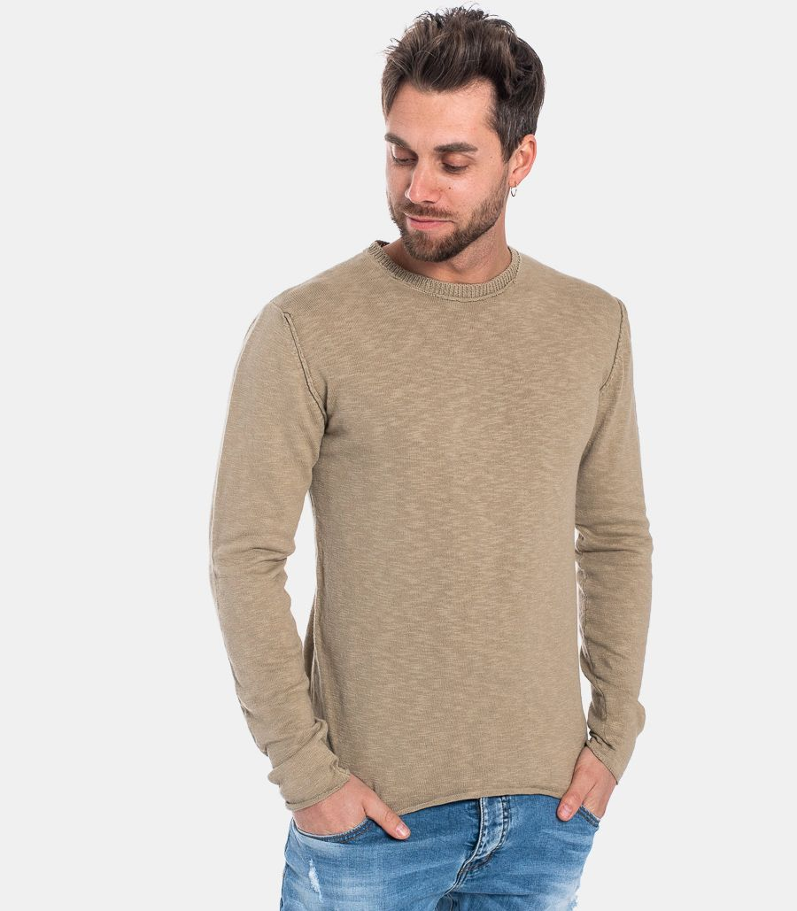 MEN'S ROUNDNECK SLUB MUD