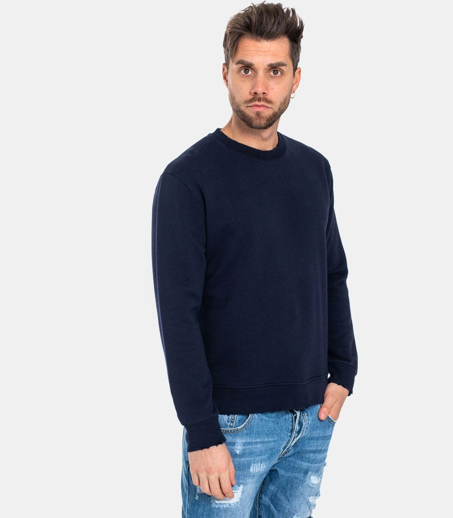 MEN'S TORN SWEATSHIRT BLUE
