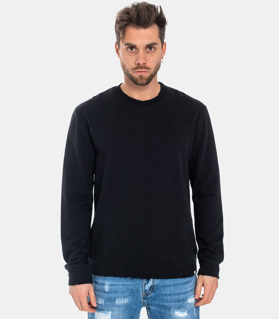 MEN'S TORN SWEATSHIRT BLACK