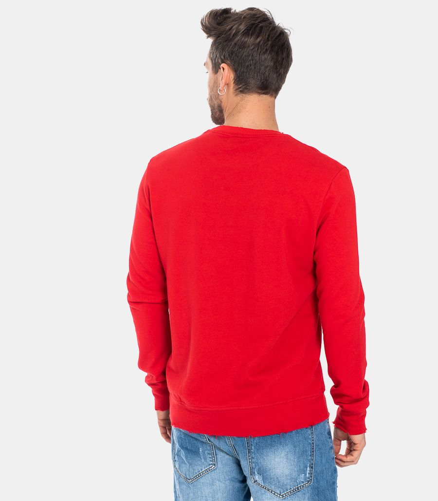 MEN'S TORN SWEATSHIRT RED