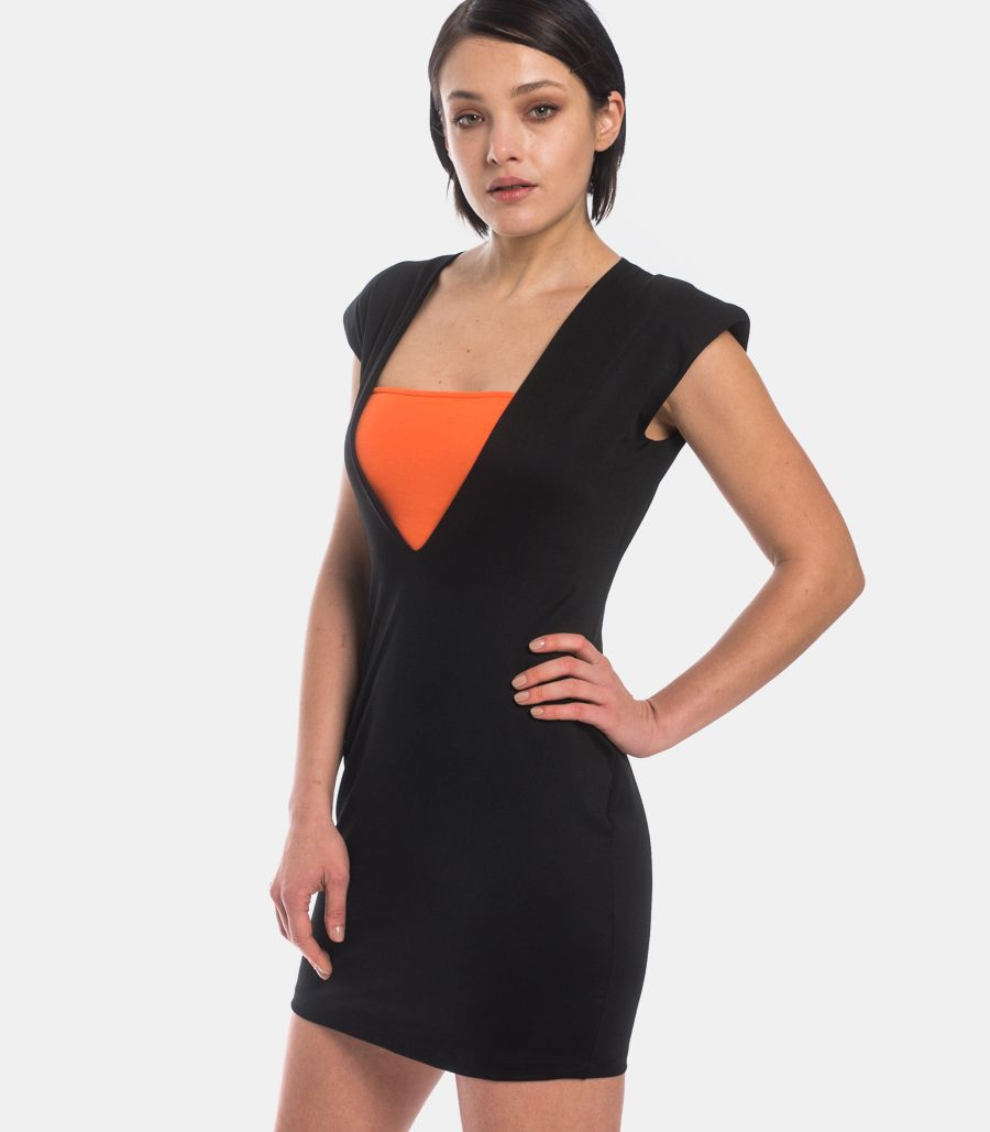 Women's dress with band black