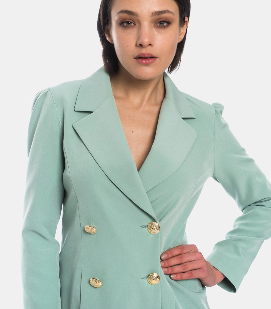 WOMEN'S SHORT JACKET DRESS TURQUOISE