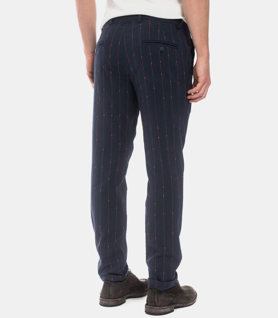 Men's blend trousers blue red