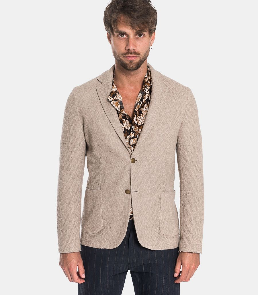 Men's Albion knitted jacket mud