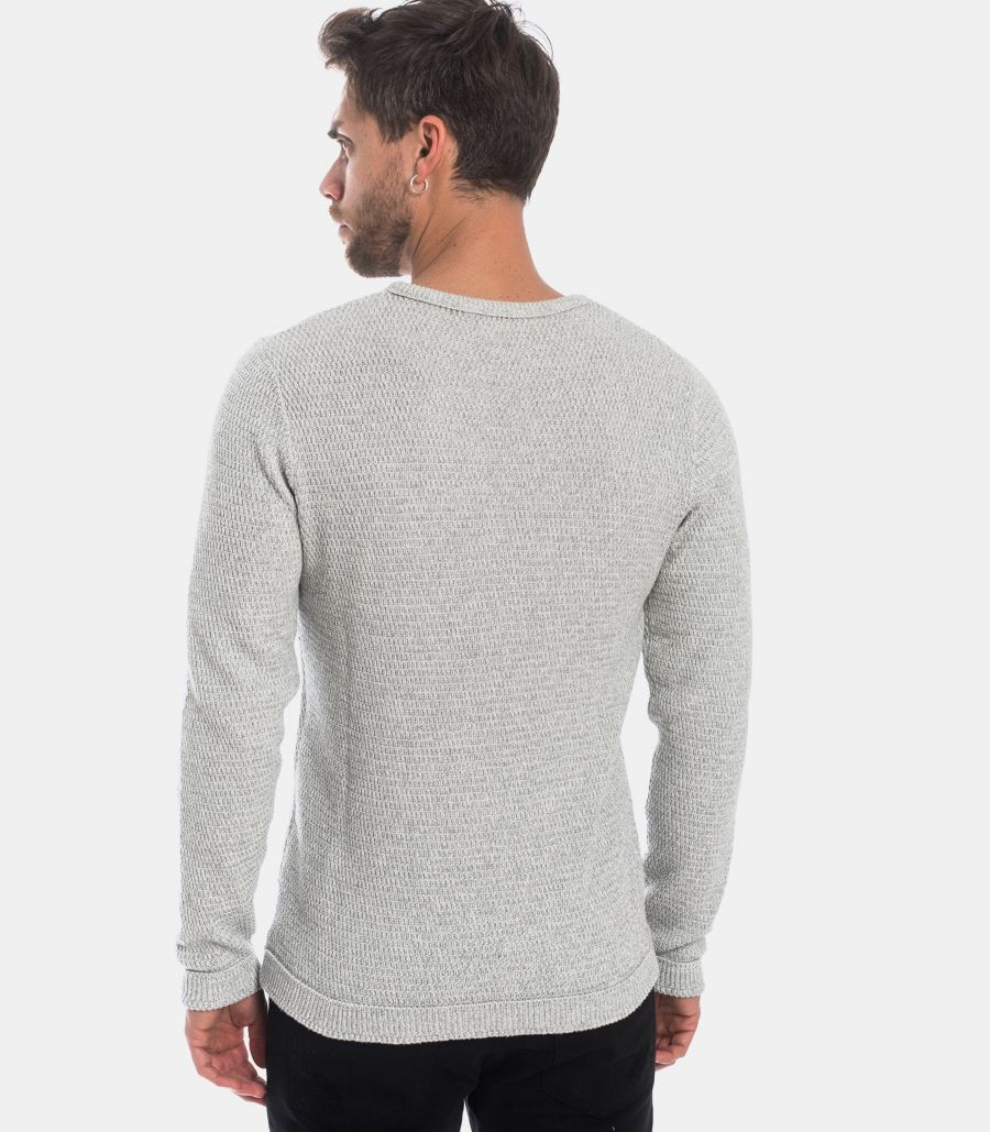 MEN'S WORKED SWEATER GREY