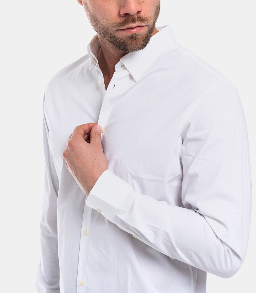 MEN'S BASIC COLLAR SHIRT WHITE