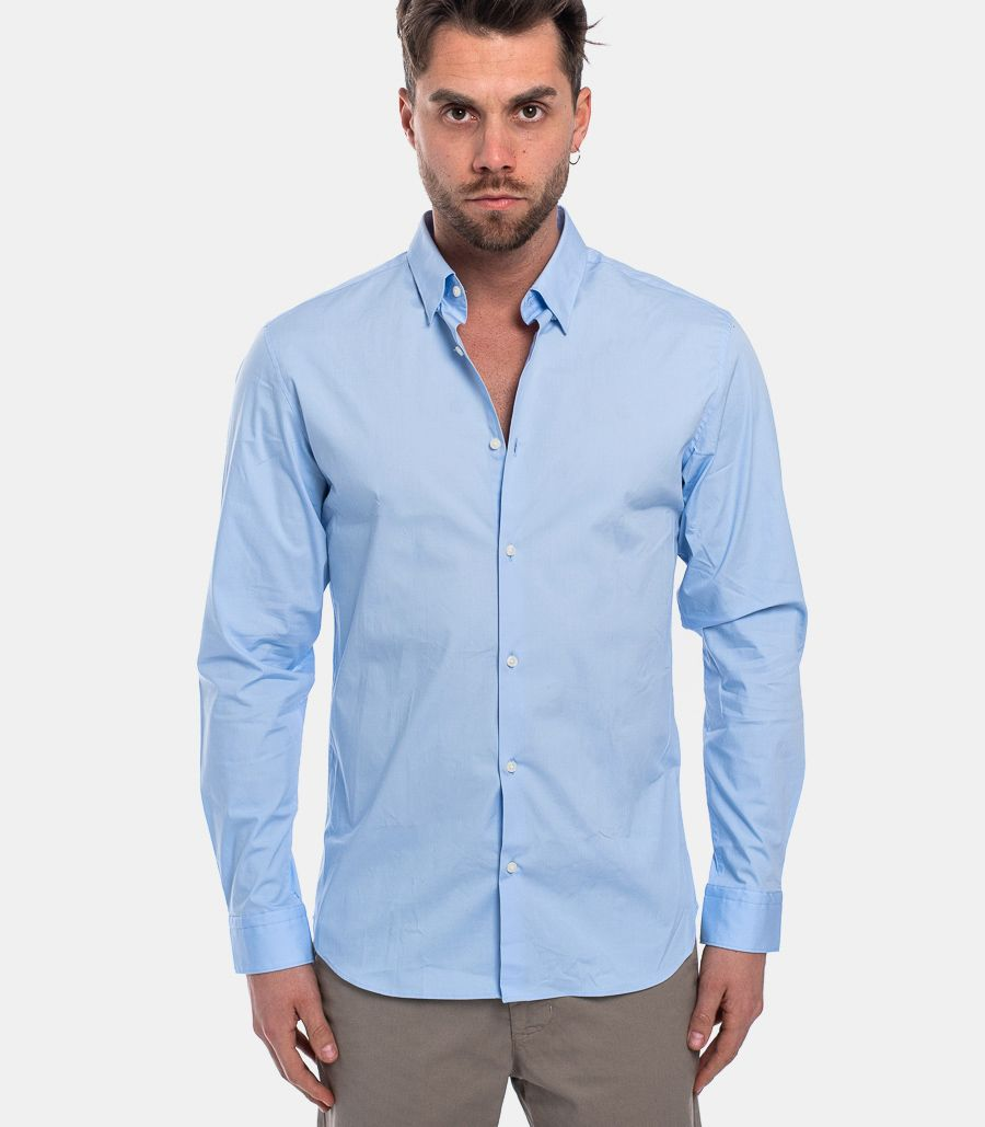 MEN'S BASIC COLLAR SHIRT LIGHT BLUE