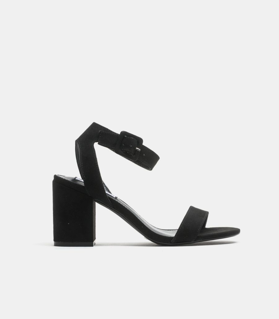 Women's open sandal with heel black