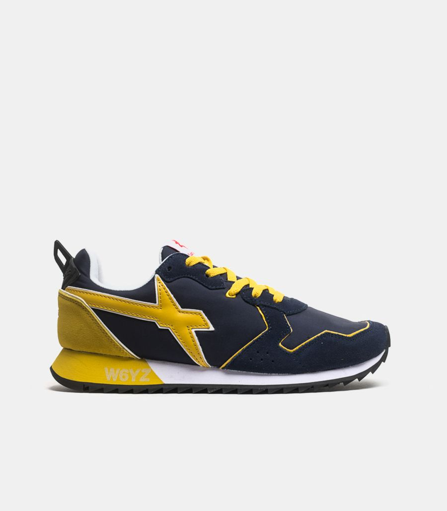 Men's running shoe Jet blue yellow