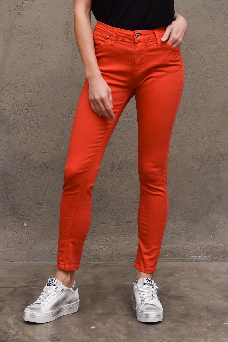 Women's basic skinny trousers red. P78LEG5P7HROSSO